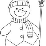 Online Snowman Coloring Pages   78742