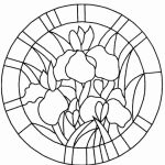 Online Stained Glass Coloring Pages   34136