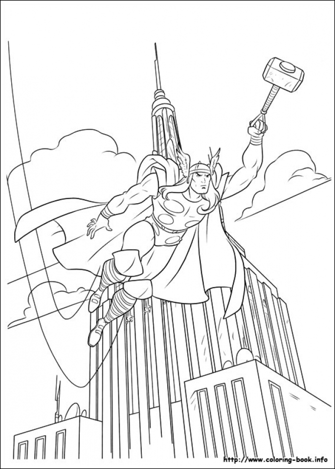 Get This Online Thor Coloring Pages 61800