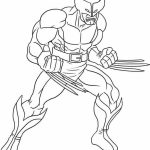Online Wolverine Coloring Pages for Kids   8QgDr
