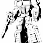 Optimus Prime Coloring Page Free for Kids   e9bnu