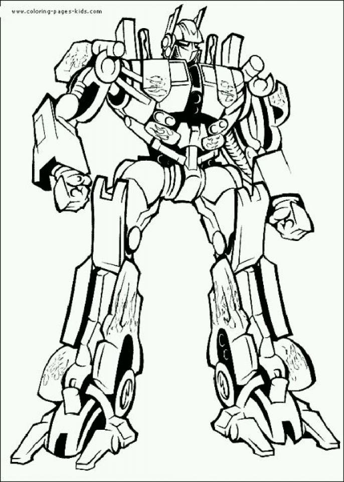 Optimus Prime Coloring Page Online Printable   nhywg