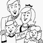 Picture of Family Coloring Pages Free for Children   upmly