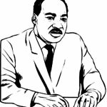 Picture of Martin Luther King Jr Coloring Pages Free for Children   upmly