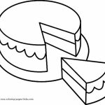 Preschool Printables of Cake Coloring Pages Free   b3hca