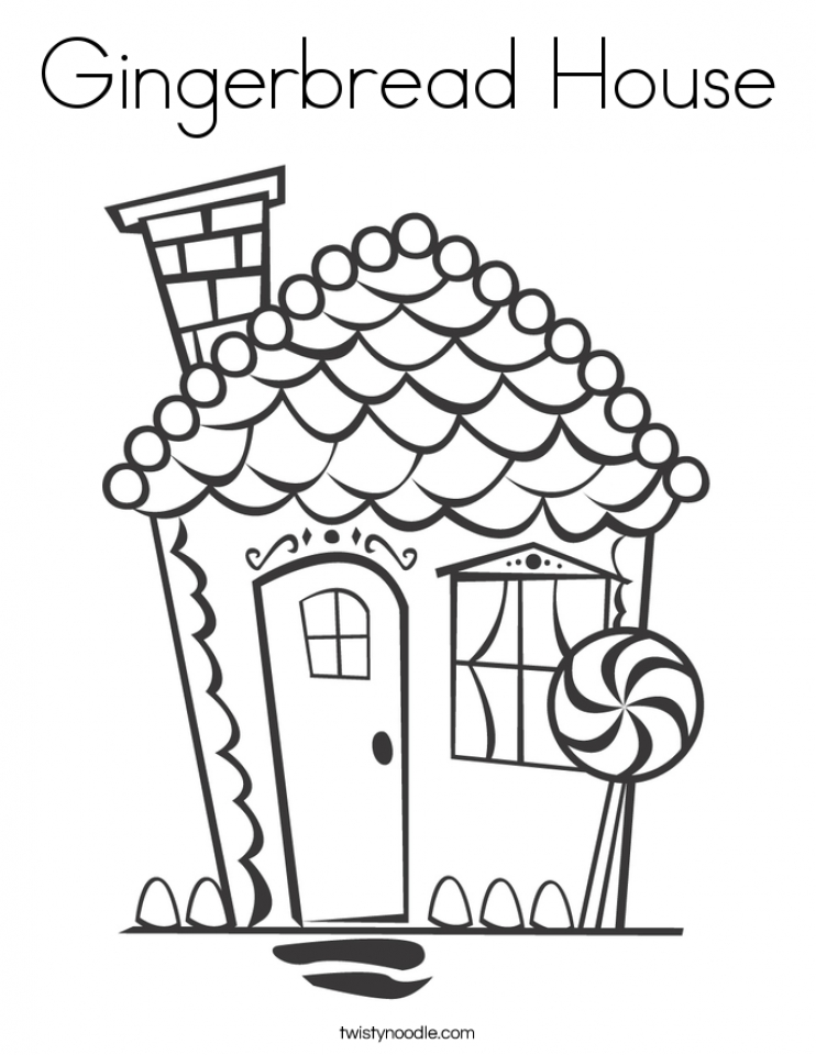 Get This Preschool Printables of Gingerbread House Coloring Pages