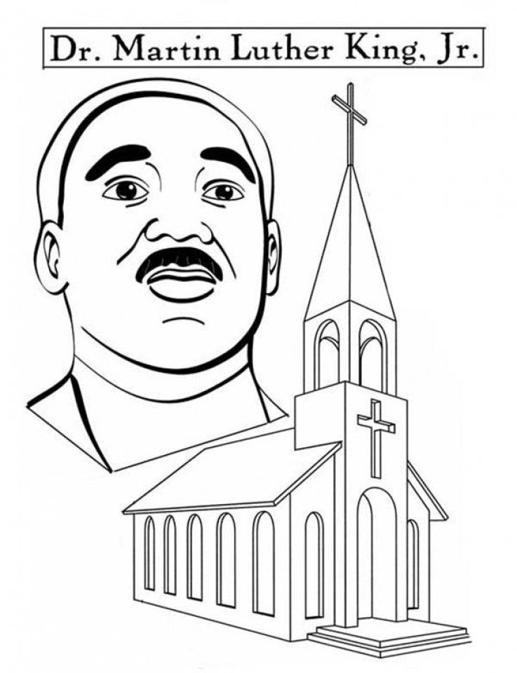 Preschool Printables Of Martin Luther King Jr Coloring Pages Free B3hca
