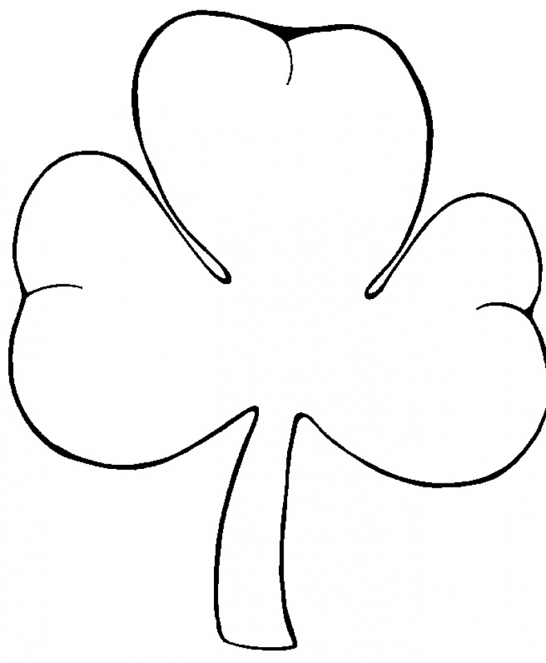 shamrock coloring pages printable - get this preschool printables of shamrock coloring pages