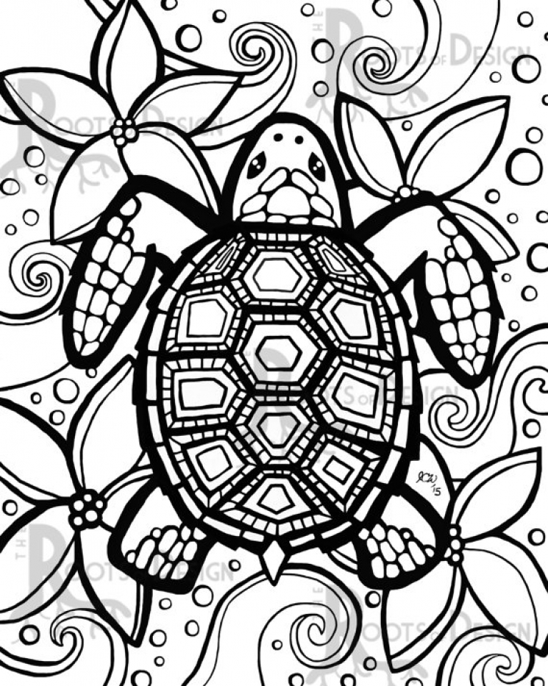 Turtle Mandala Coloring Pages Printable Coloring Pages