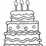 Printable Birthday Cake Coloring Pages   73400