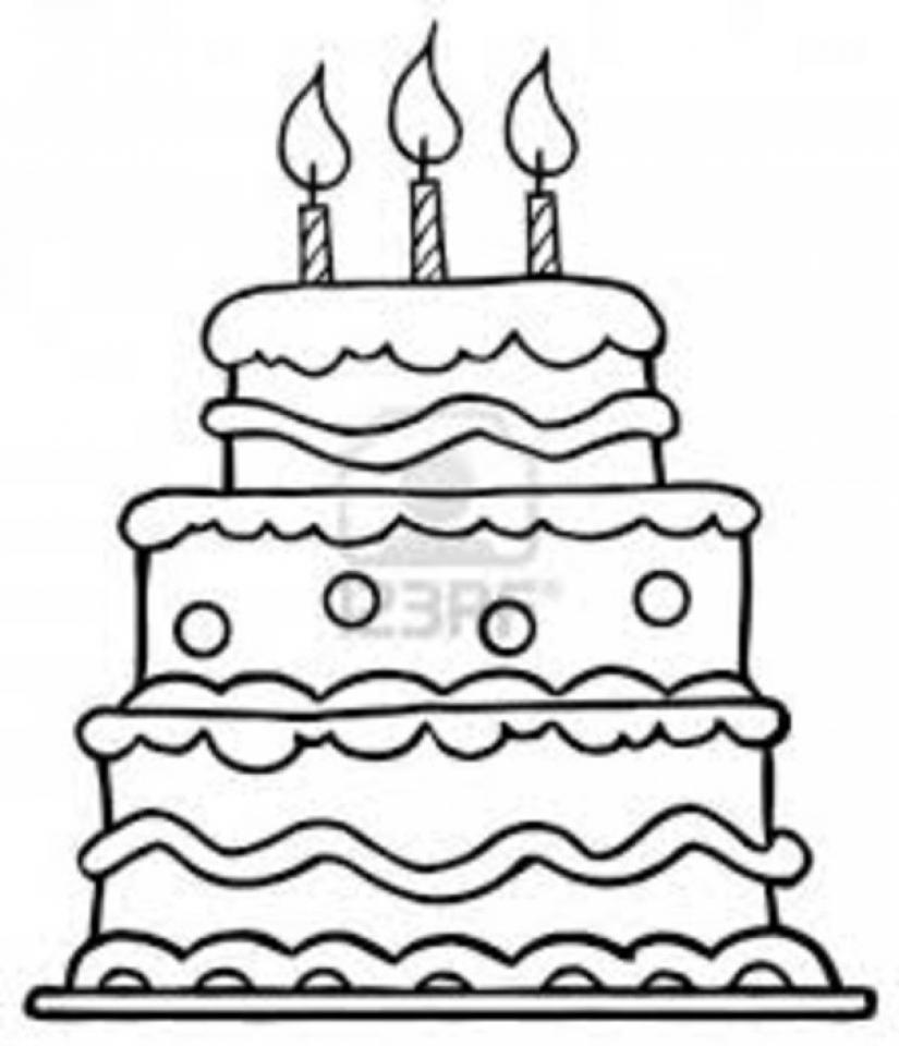 Red  Free Cake Coloring