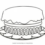 Printable Birthday Cake Coloring Pages Online   85256