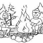 Printable Camping Coloring Pages   73400