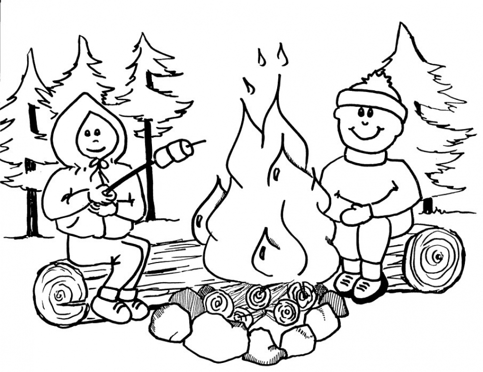 20+ Free Printable Camping Coloring Pages - EverFreeColoring.com