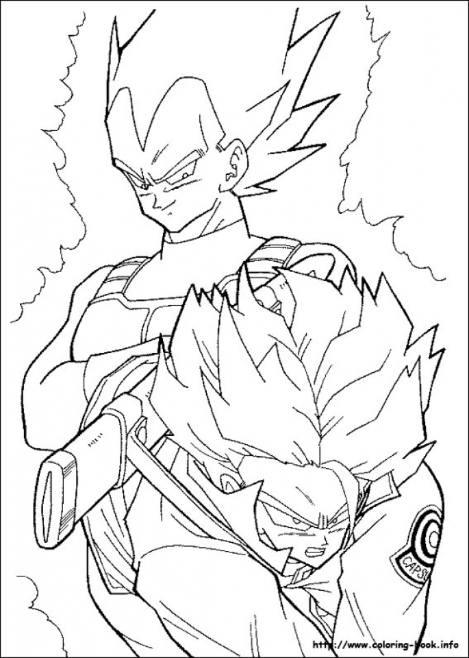 Printable DBZ Coloring Pages   73400