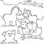 Printable Farm Animal Coloring Pages for Kids   5prtr