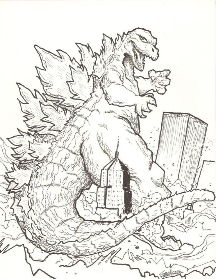 20+ Free Printable Godzilla Coloring Pages ...