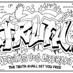 Printable Graffiti Coloring Pages   64912