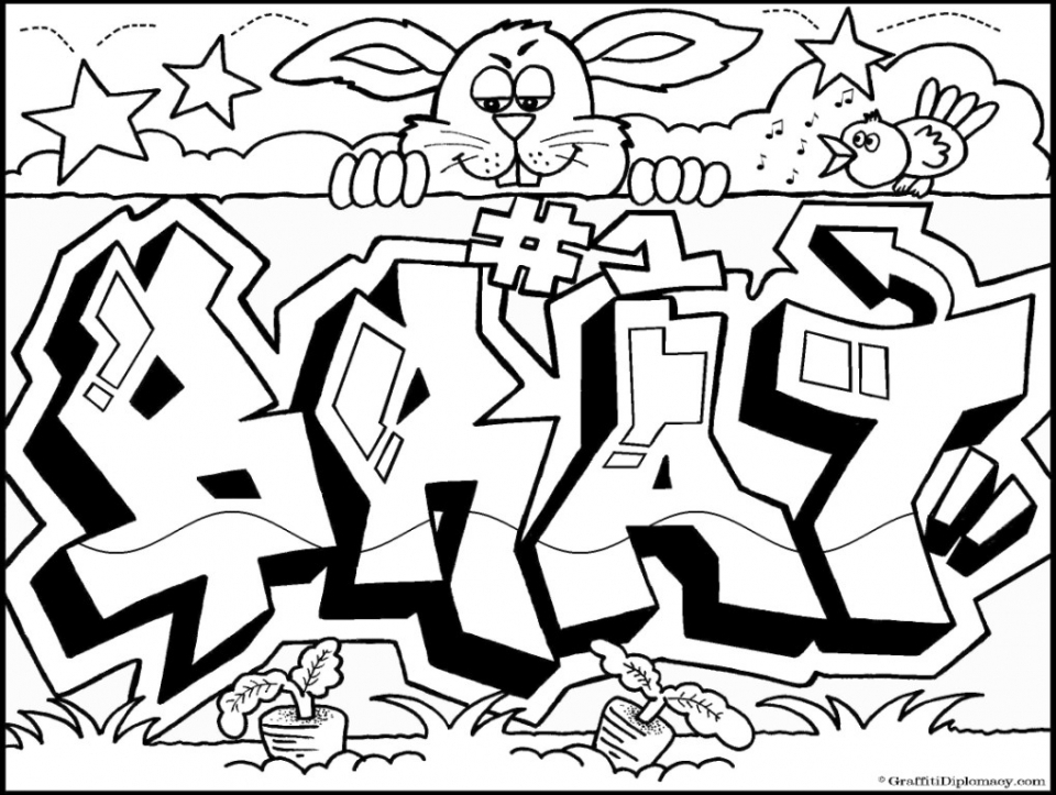 Printable Graffiti Coloring Pages   78757