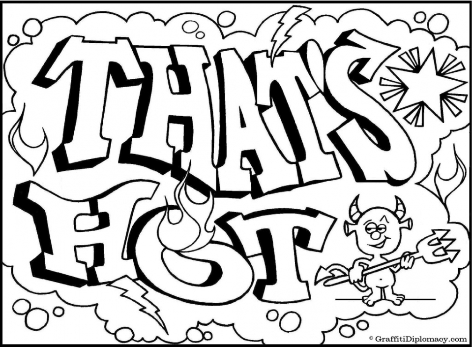 Printable Graffiti Coloring Pages Online   32651