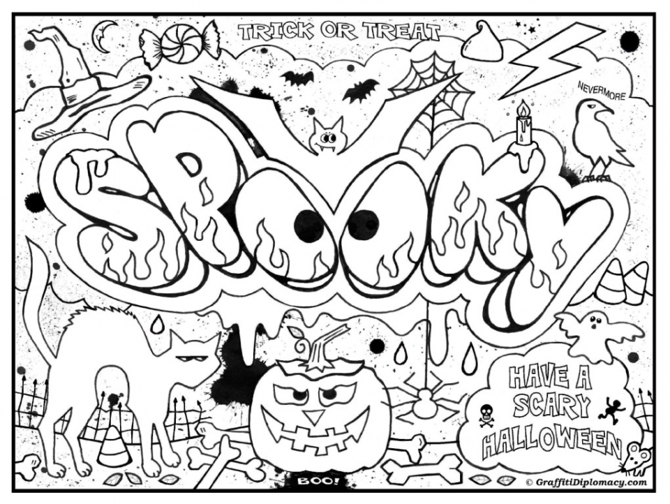 20+ Free Printable Graffiti Coloring Pages - EverFreeColoring.com