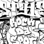 Printable Graffiti Coloring Pages Online   91296