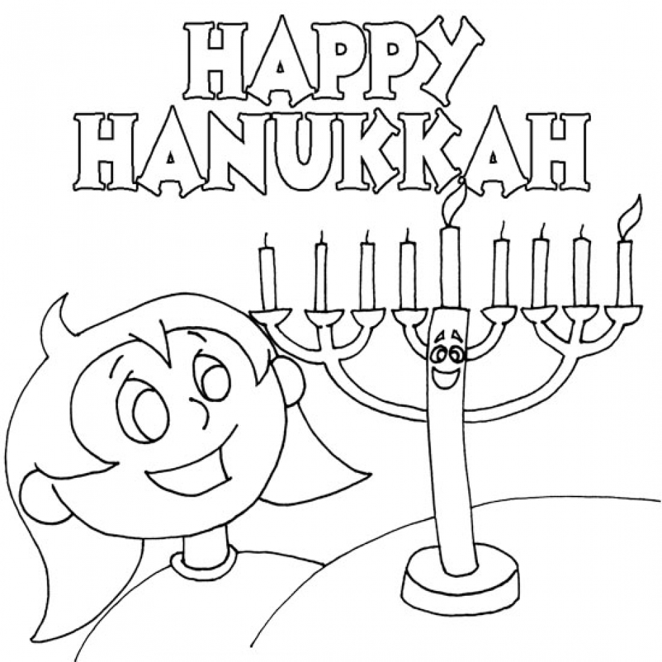 Printable Hanukkah Coloring Pages for Kids   BKj66