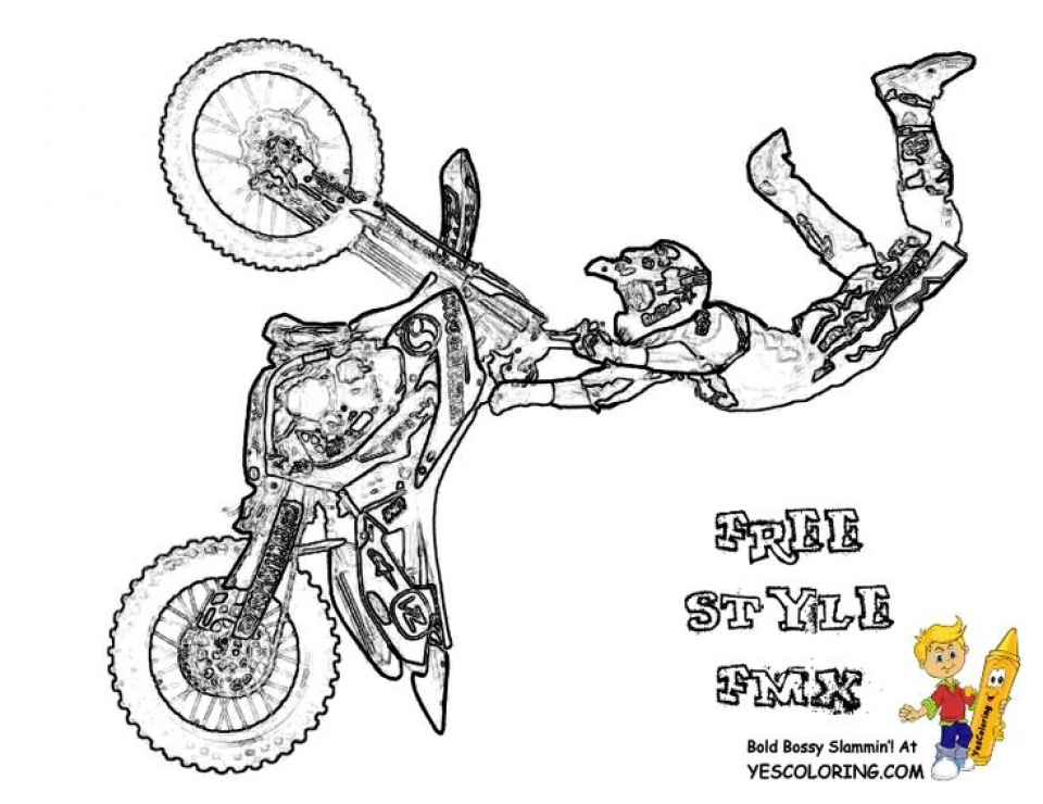 Bike Printable Coloring Pages