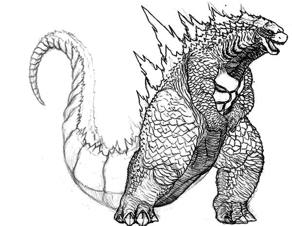 get this printable image of godzilla coloring pages upiui ! - Printable Godzilla Coloring Pages