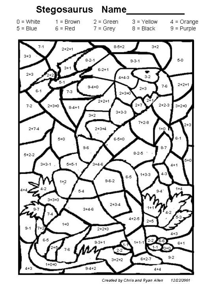Printable Math Coloring Pages for Kids   5prtr