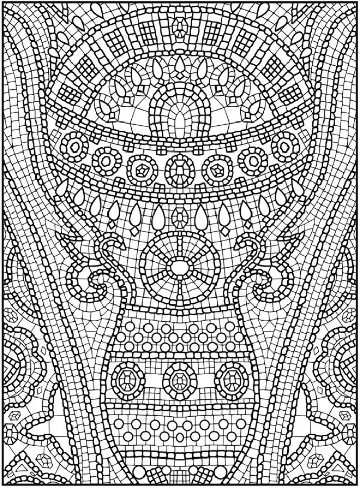 get this printable mosaic coloring pages online 91296. Black Bedroom Furniture Sets. Home Design Ideas