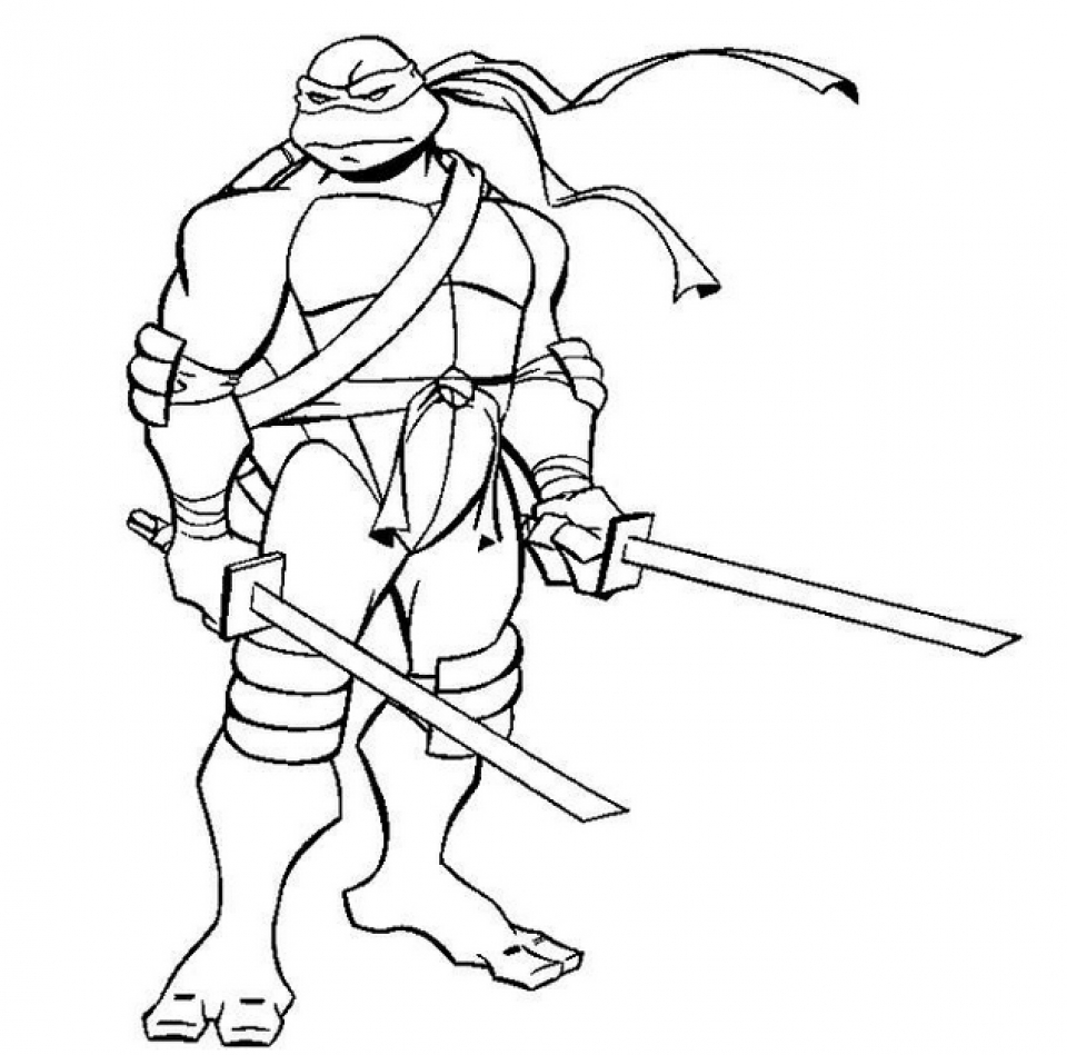 Printable Ninja Turtle Coloring Page   64912