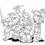 Printable Ninja Turtle Coloring Page Online   32651