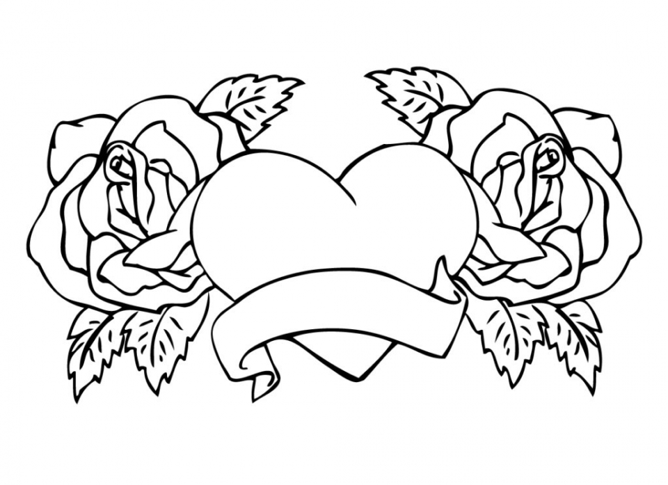 Get This Printable Roses Coloring Pages For Adults 63679