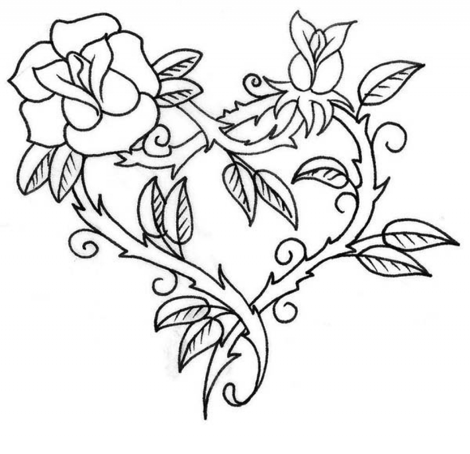 Get this printable roses coloring pages for adults 73400 for Coloring pages roses