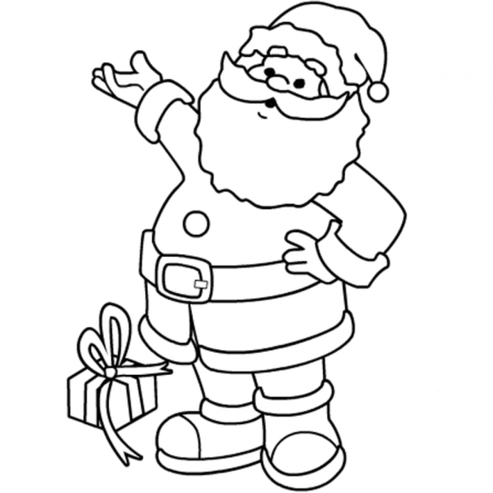 printable santa coloring page online 21065
