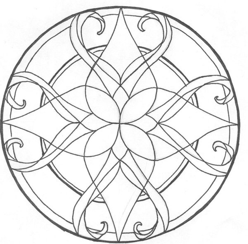 Get This Printable Stained Glass Coloring Pages 78757