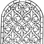 Printable Stained Glass Coloring Pages   84618