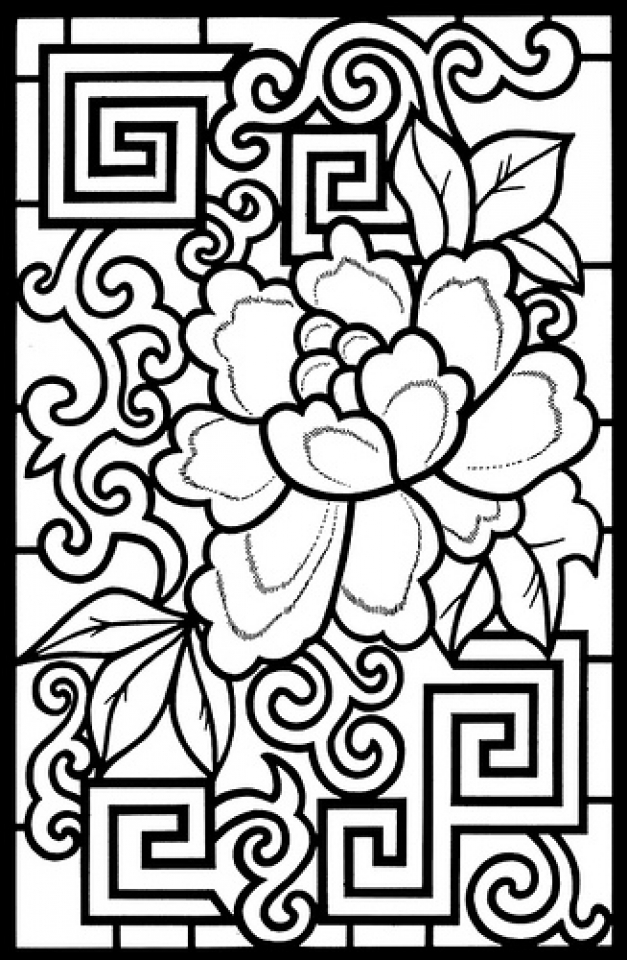 Printable Stained Glass Coloring Pages Online   32651