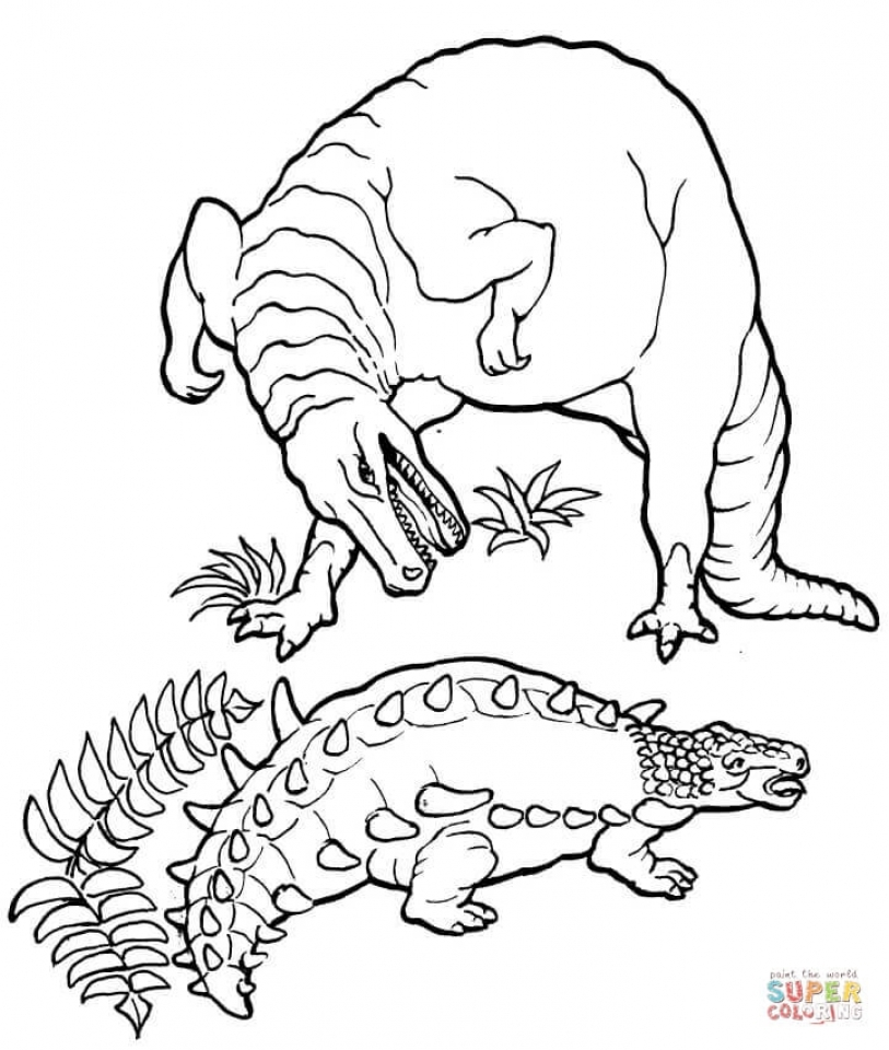 Get This Printable T Rex Coloring Pages line