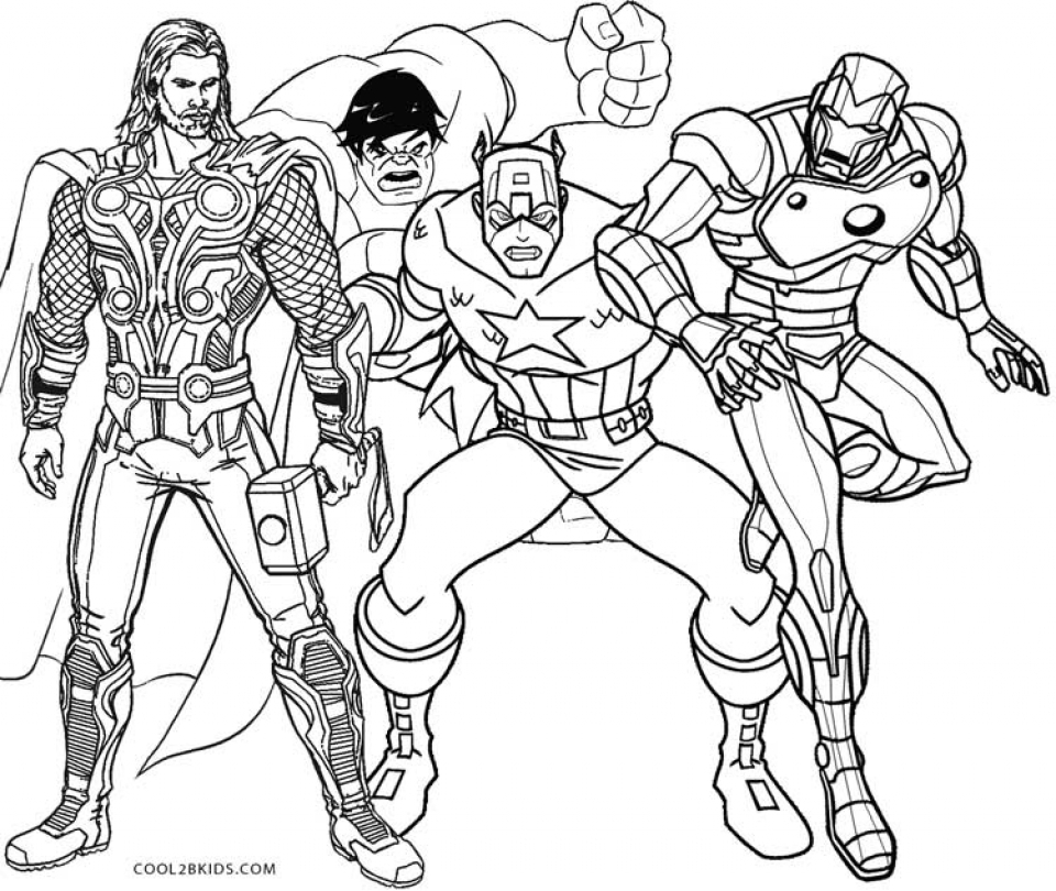 Get This Printable Thor Coloring Pages Online 64038