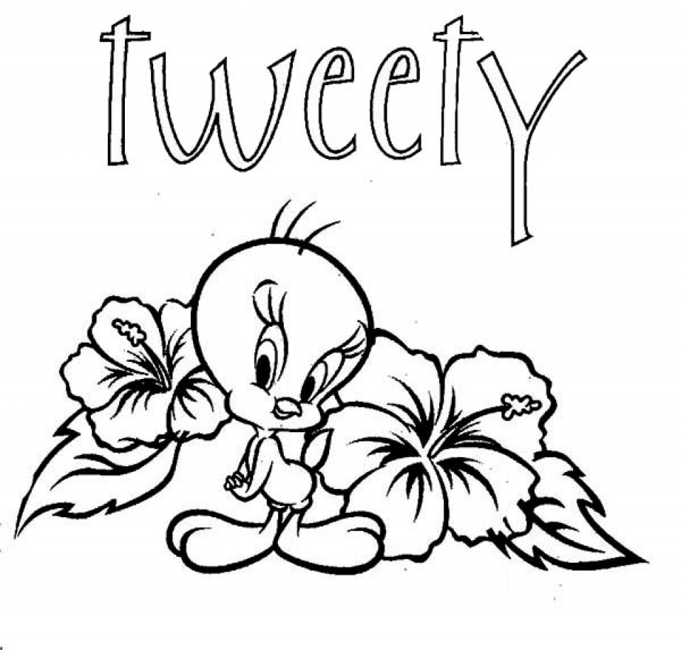 Get this printable tweety bird coloring pages 29255 for Bird coloring pages to print