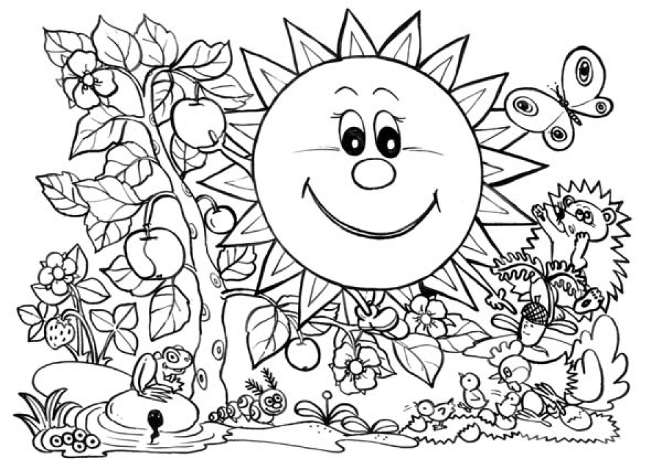 Get This Printables For Toddlers Nature Coloring Pages
