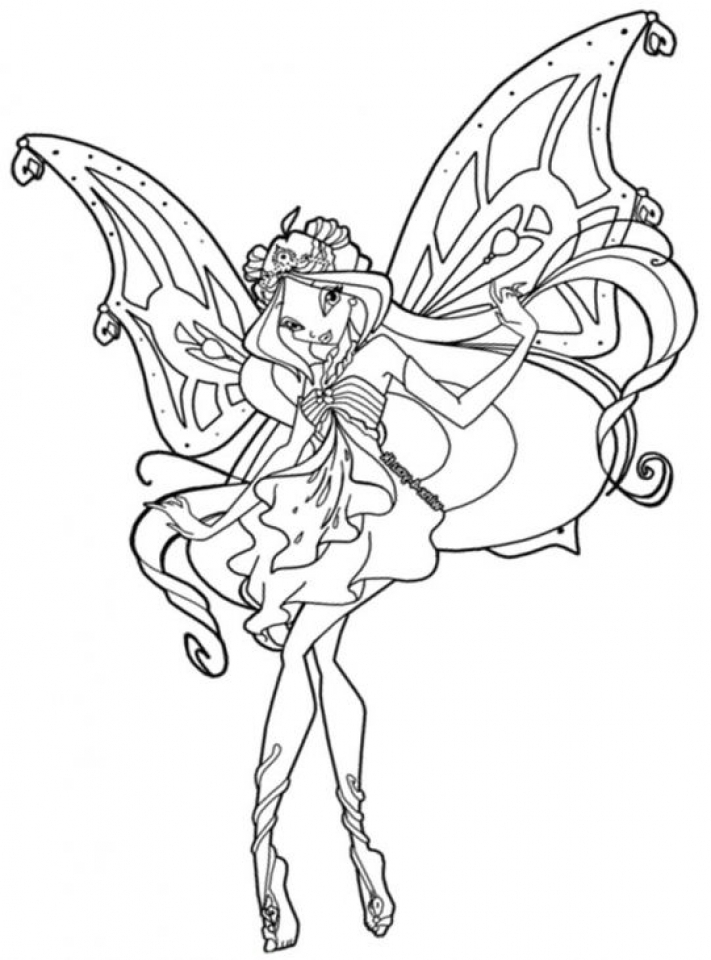 20 free printable winx club coloring pages