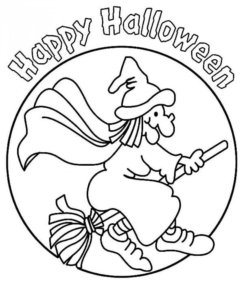 Printables for Toddlers   Witch Coloring Pages Online Free   qKF3G