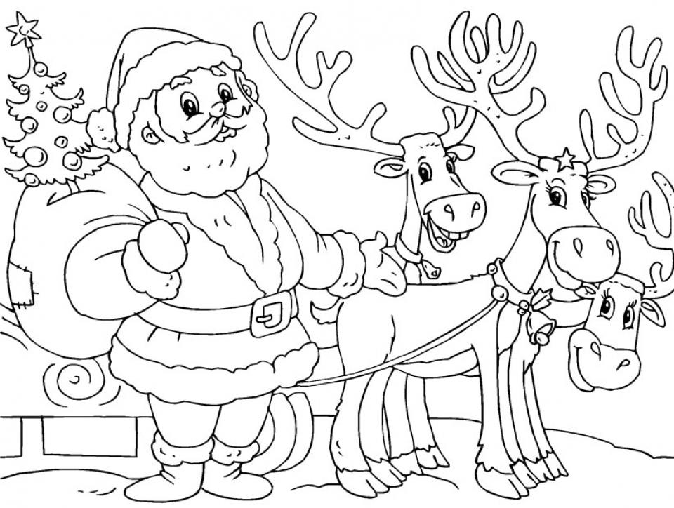 Santa Coloring Page Free Printable 16479