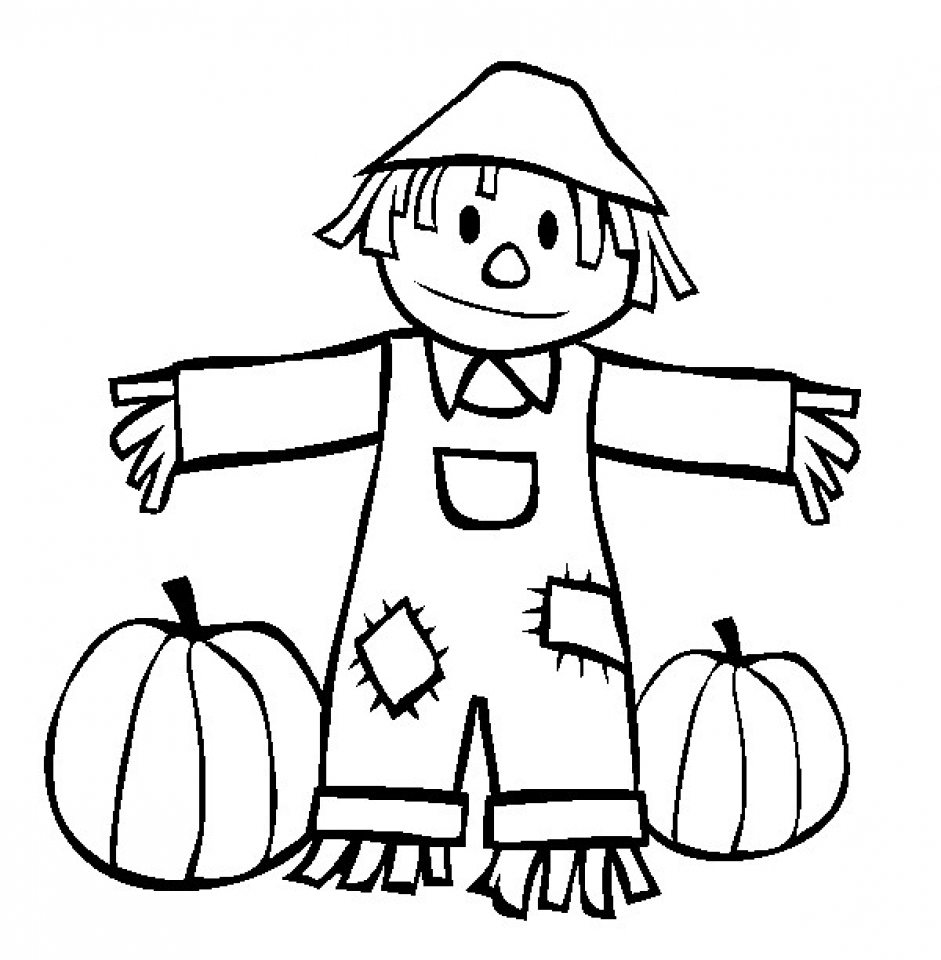 Get This Scarecrow Coloring Pages Free For Kids 6Ir1n