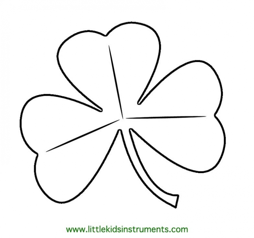 Shamrock Coloring Pages Online Printable   nhywg
