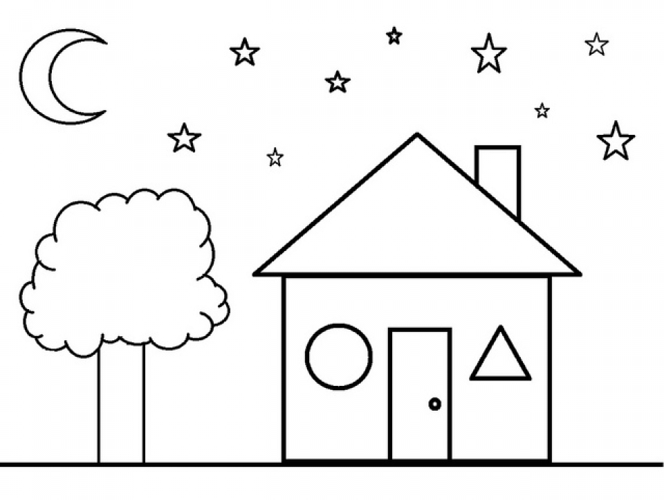 Shapes Coloring Pages Free For Kids E9bnu on Preschool Animal Worksheet Print Outs