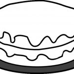 Simple Cake Coloring Pages to Print for Preschoolers   cdsxi